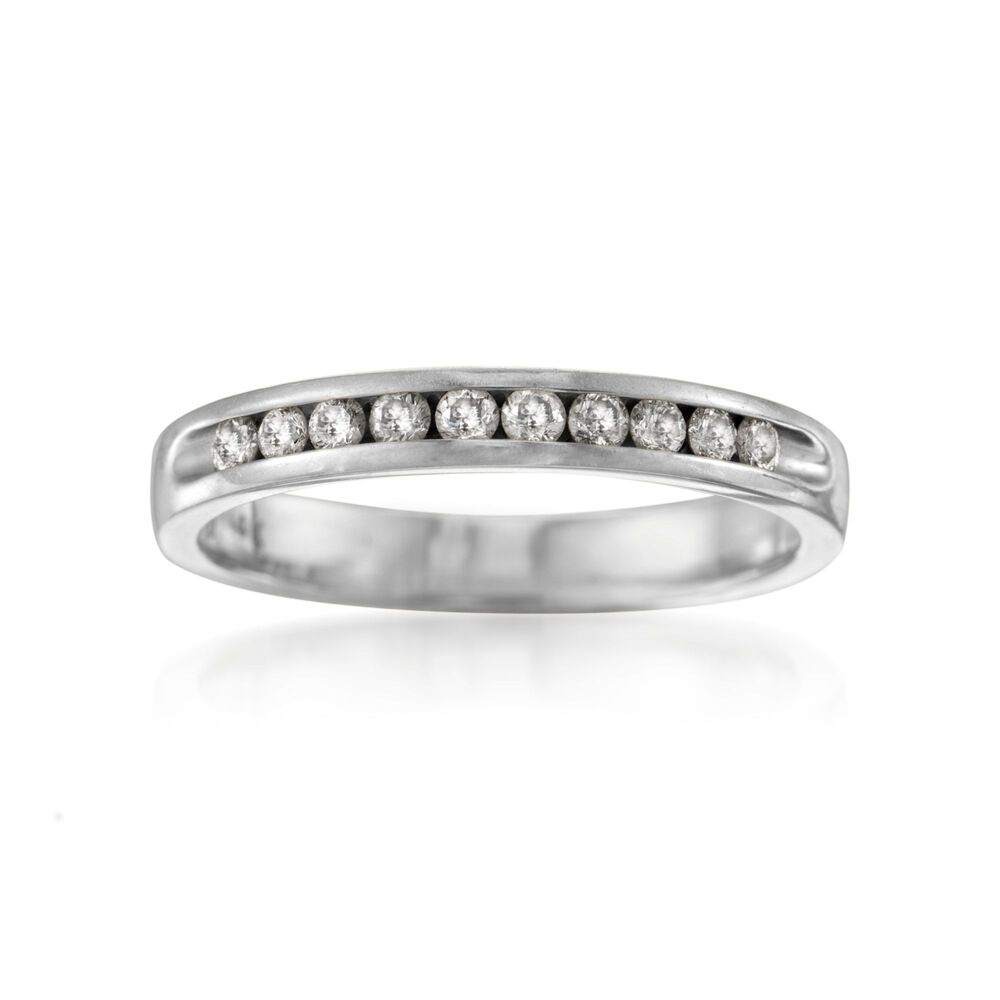 T W Diamond Wedding Ring In 14kt White Gold Default