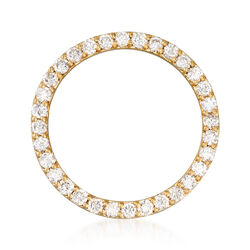 C. 1980 Vintage 1.75 ct. t.w. Diamond Open Circle Pin in 14kt Yellow Gold , , default