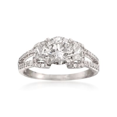 Simon G. 2.27 ct. t.w. Certified Diamond Engagement Ring in 18kt White Gold, , default