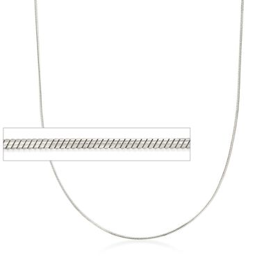 Italian 1mm Sterling Silver Adjustable Slider Snake Chain Necklace, , default