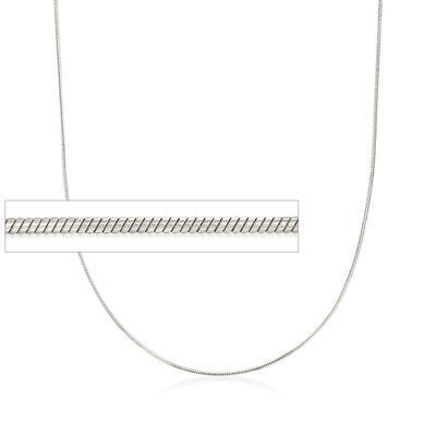Italian 1mm Sterling Silver Adjustable Slider Snake Chain Necklace, , default