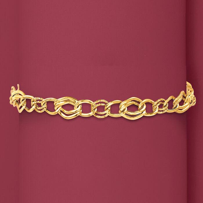 Italian 18kt Yellow Gold Link  Bracelet