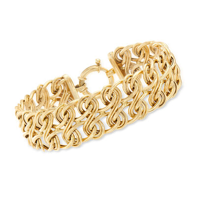 14kt Yellow Gold Figure 8-Link Bracelet, , default