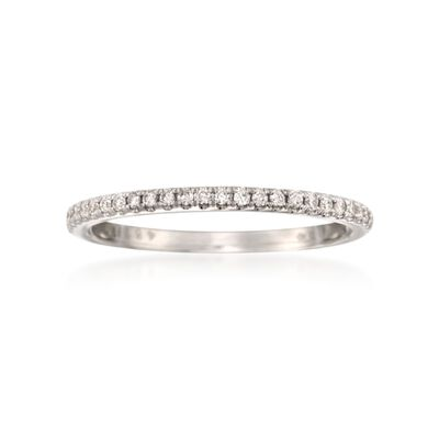 Simon G. .14 ct. t.w. Diamond Wedding Ring in 18kt White Gold