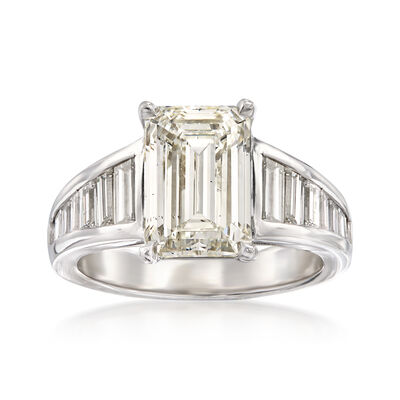 5.02 ct. t.w. Diamond Ring in 18kt White Gold, , default