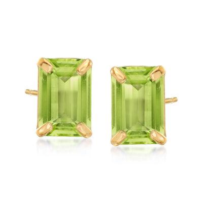 1.90 ct. t.w. Peridot Stud Earrings in 14kt Yellow Gold