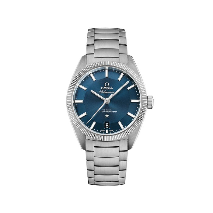 Omega Constellation Globemaster Men's 39mm Stainless Steel Watch with Blue Dial , , default
