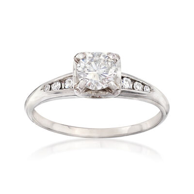C. 1960 Vintage .55 ct. t.w. Diamond Ring in 14kt White Gold, , default