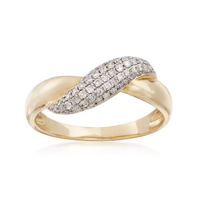 .27 ct. t.w. Diamond Infinity Symbol Ring in 14kt Yellow Gold, , default