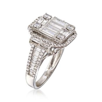 1.81 ct. t.w. Diamond Mosaic Ring in 18kt White Gold, , default