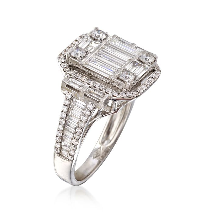 1.81 ct. t.w. Diamond Mosaic Ring in 18kt White Gold