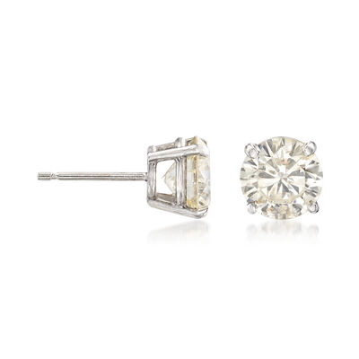 C. 1990 Vintage 3.06 ct. t.w. Diamond Stud Earrings in 14kt White Gold, , default