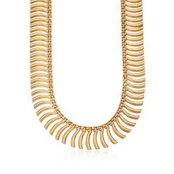 C.1980 Vintage 18kt Yellow Gold Fancy Link Cleopatra Necklace  , , default