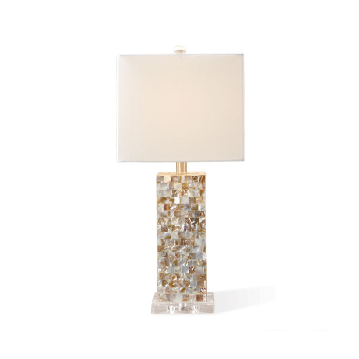 Mother-Of-Pearl Table Lamp with Shade, , default
