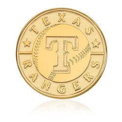 14kt Yellow Gold MLB Texas Rangers Lapel Pin, , default