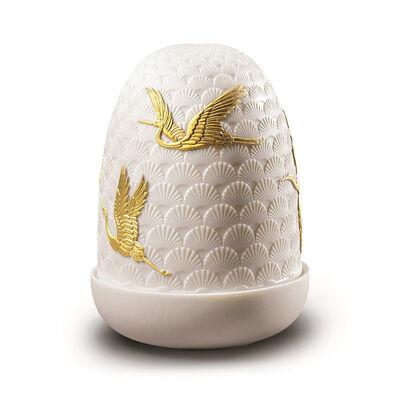 """Lladro """"Cranes"""" Porcelain Dome Lamp, , default"""