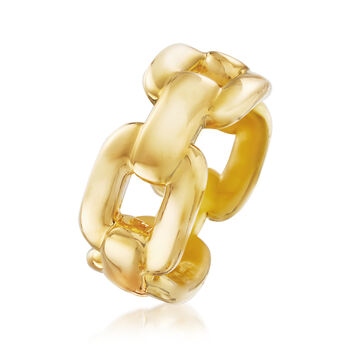 Italian Andiamo Link Ring in 14kt Yellow Gold
