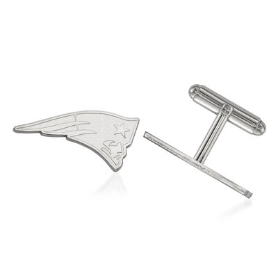Sterling Silver NFL New England Patriots Cuff Links, , default