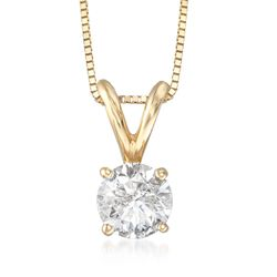 .75 Carat Diamond Pendant Necklace in 14kt Yellow Gold, , default
