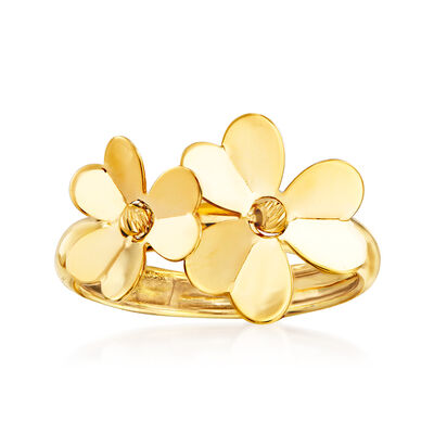 Italian 14kt Yellow Gold Flower Ring