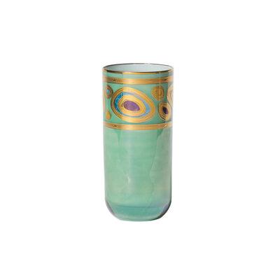 """Vietri """"Regalia"""" Aqua Highball Glass"""