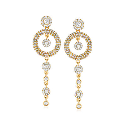 1.00 ct. t.w. Diamond Drop Earrings in 14kt Yellow Gold