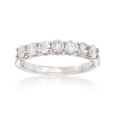 1.00 ct. t.w. Diamond Seven-Stone Wedding Ring in 14kt White Gold, , default