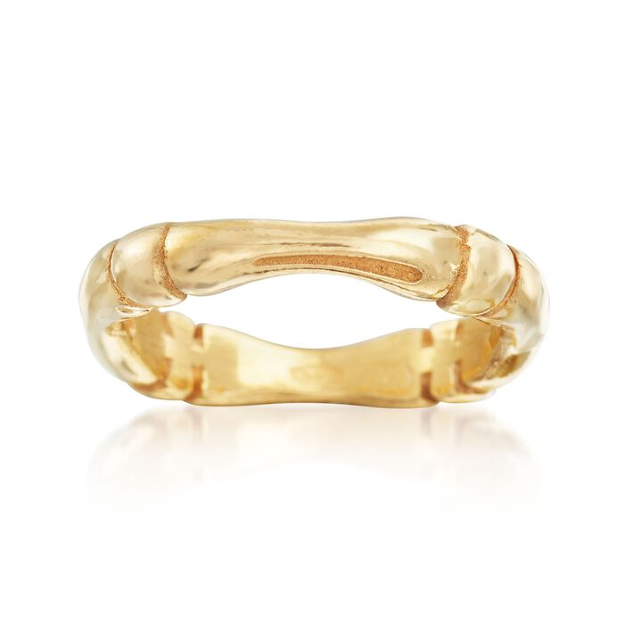 22kt Gold Platinum: Italian 22kt Yellow Gold Over Sterling Silver Tapered Ring