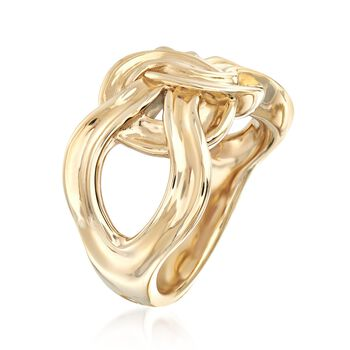14kt Yellow Gold Infinity Knot Ring, , default