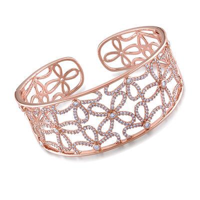 2.40 ct. t.w. Diamond Cuff Bracelet in 14kt Rose Gold