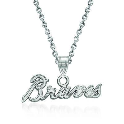 """Sterling Silver MLB Atlanta Braves Pendant Necklace. 18"""", , default"""