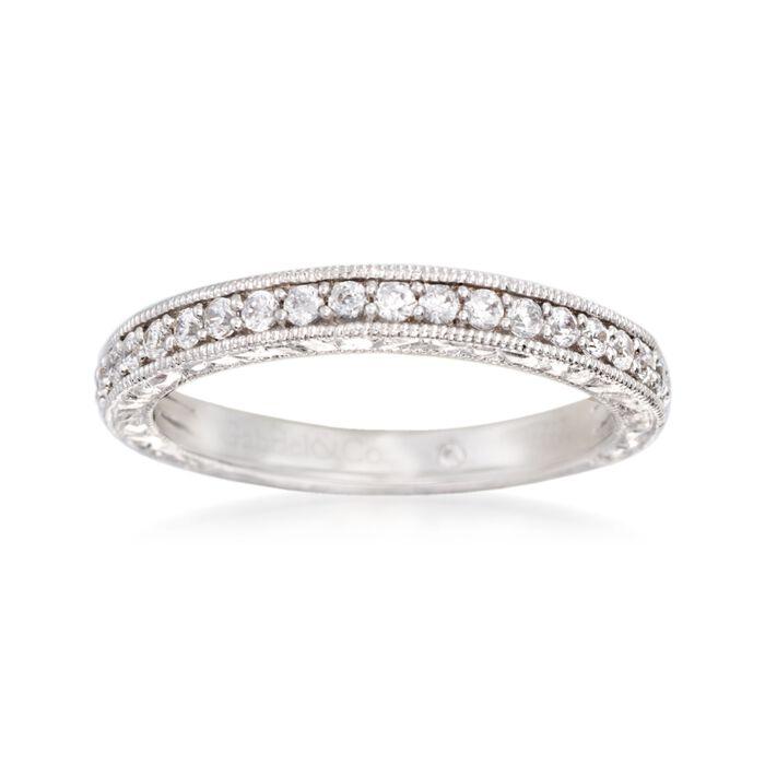 Gabriel Designs .37 ct. t.w. Diamond Wedding Ring in 14kt White Gold