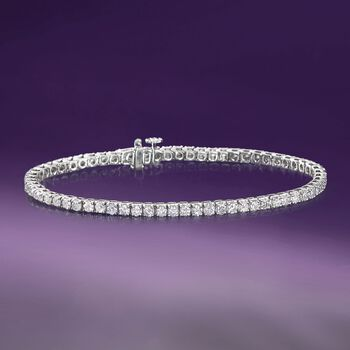 4.00 ct. t.w. Diamond Tennis Bracelet in 14kt White Gold, , default