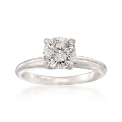 C. 2000 Vintage 1.25 Carat Diamond Solitaire Ring in Platinum, , default