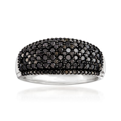 1.00 ct. t.w. Black Diamond Ring in Sterling Silver
