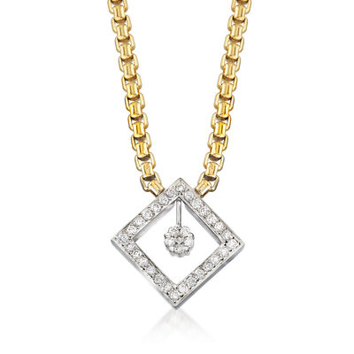 C. 2000 Vintage .90 ct. t.w. Diamond Necklace in 14kt Two-Tone Gold, , default