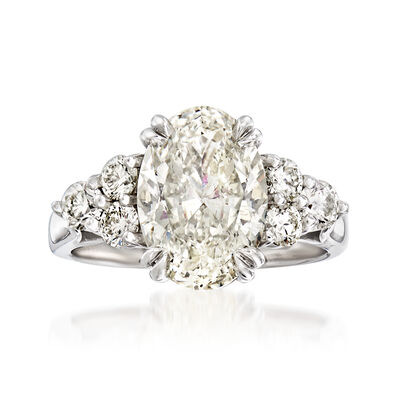 Majestic Collection 4.25 ct. t.w. Diamond Ring in 18kt White Gold, , default