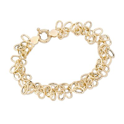 Italian 14kt Yellow Gold Multi-Link Bracelet, , default