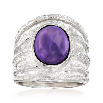 4.00 Carat Amethyst Ring in Sterling Silver