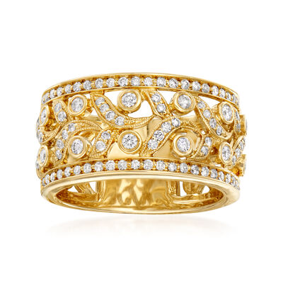 .62 ct. t.w. Diamond Openwork Ring in 14kt Yellow Gold