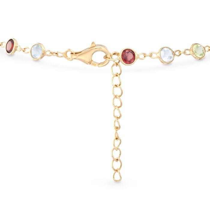 5.06 ct. t.w. Multi-Stone Bracelet in 14kt Gold Over Sterling