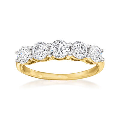 1.50 ct. t.w. Diamond Five-Stone Ring in 14kt Yellow Gold