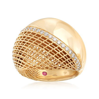 Roberto Coin .29 ct. t.w. Diamond Ring in 18kt Yellow Gold
