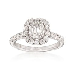 Henri Daussi 2.07 ct. t.w. Certified Diamond Ring in 18kt White Gold, , default