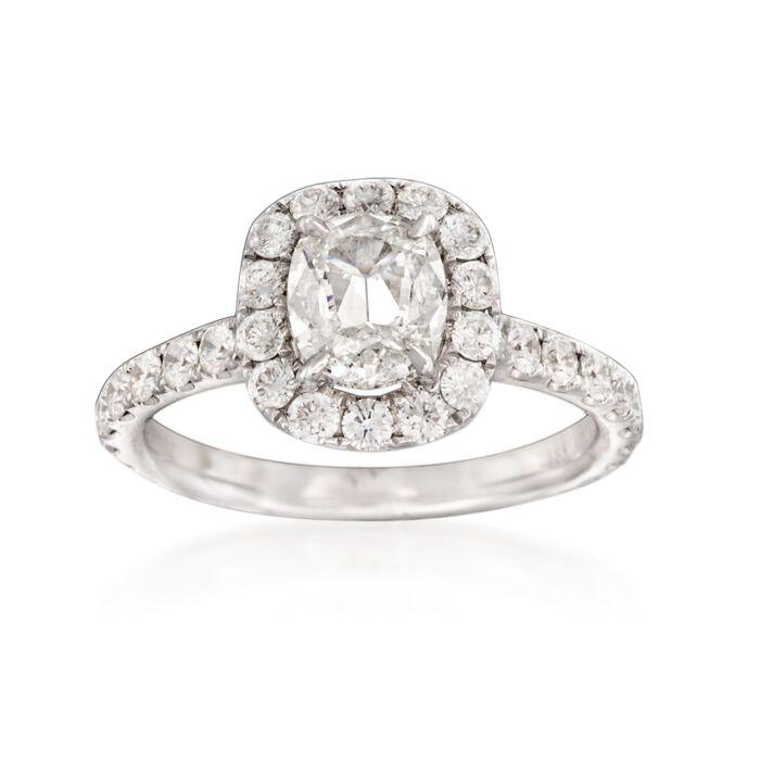 Henri Daussi 2.07 ct. t.w. Certified Diamond Ring in 18kt White Gold, , default