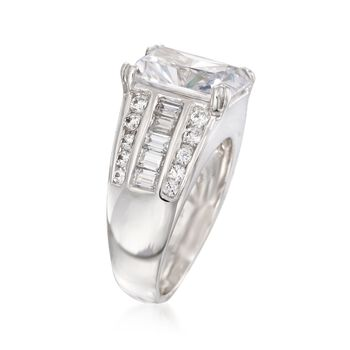 7.10 ct. t.w. CZ Ring in Sterling Silver, , default