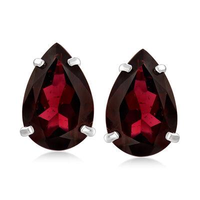 6.50 ct. t.w. Garnet Stud Earrings in Sterling Silver