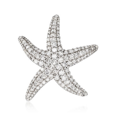 2.00 ct. t.w. Diamond Starfish Pin in Sterling Silver