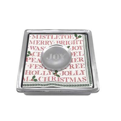 """Mariposa """"Traditions"""" Joy Napkin Box"""