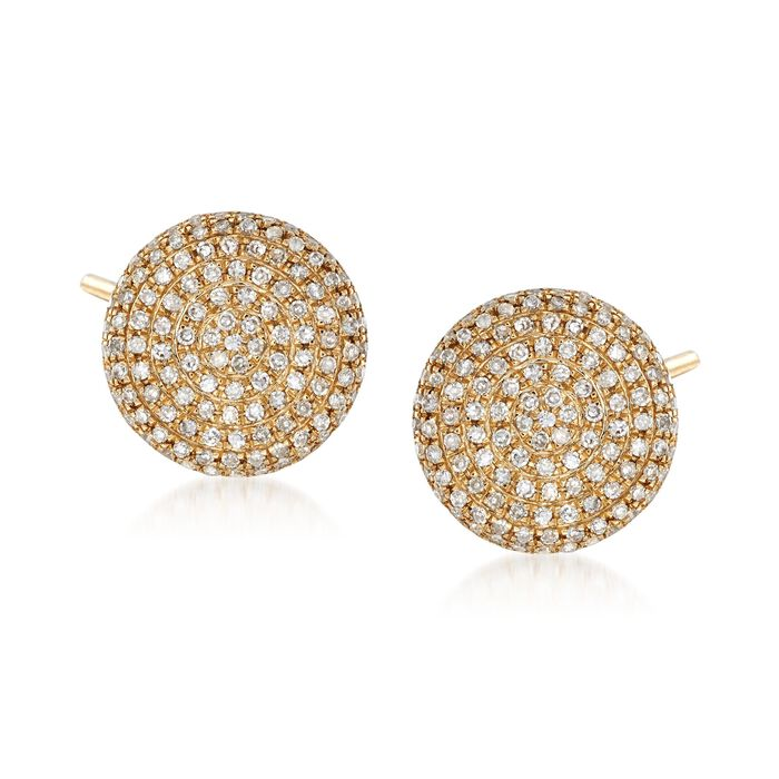 .35 ct. t.w. Diamond Circle Earrings in 14kt Yellow Gold , , default